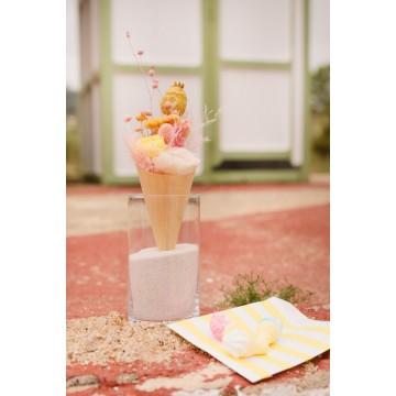 Cuqui cream Limon Fresa flor seca preservada
